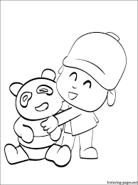 pocoyo coloring print coloring pages