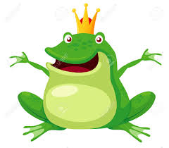 illustration of happy frog prince vector royalty free cliparts
