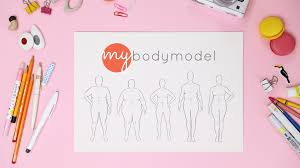 mybodymodel fashion sketch templates to your measurements by