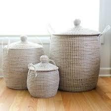 Wicker Storage Bench White Storage With Baskets Baskets White Storage Unit With Wicker