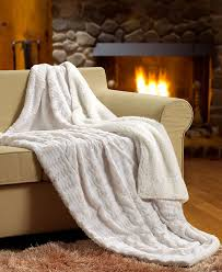 Furry Blanket Amazon Com Tache White Ivory Super Soft Warm Polar Faux Fur With