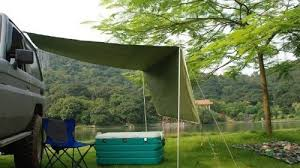 Camping Tent Awning 2 8m Awning Camper Trailer Roof Top Tent Beach Camping Suvs Truck