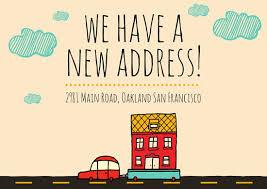 change of address card templates canva