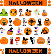 halloween graphic art halloween theme graphic design elements for icons and logos