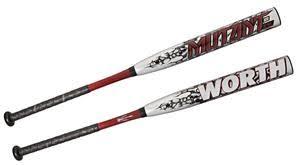 worth mutant jeff mutant 34 usssa nsa slowpitch bats baseball