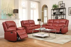 Elegant Livingroom by Furniture Comfortable Red Leather Recliner For Excellent Living