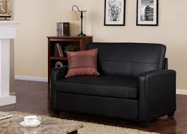 Black Sleeper Sofa Black Leather Small Loveseat Sleeper Sofa For Saving Small For