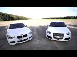 bmw vs audi race bmw m135i v audi rs3 road track drag race chris harris on