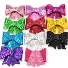 handmade hair bows 30pcs lot sequin bow knot applique glitter designer hair bow diy
