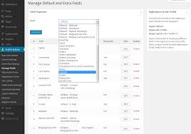 Manage Manage User Fields Cozmoslabs