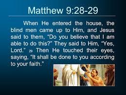 Bartholomew The Blind Man The Miracles Of Jesus John Stevenson Matthew 8 1 When Jesus