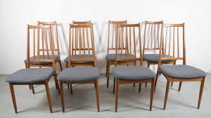 vintage danish high back dining chairs set of 8 for sale at pamono