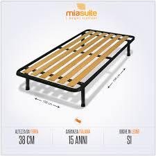 materasso piazza e mezza misure rete una piazza e mezza a doghe verticali 120x190 per letto