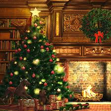 1 5m 2m christmas backdrops photography brick wall christmas tree