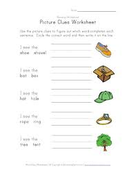 picture clues worksheet projects to try pinterest worksheets