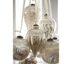 oversized mercury glass ornaments pottery barn