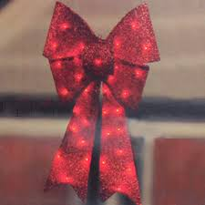 large lighted christmas bow lighted christmas ribbon christmas lights card and decore