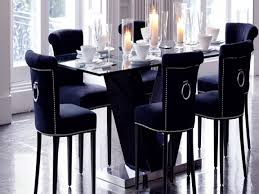 Black Velvet Dining Room Chairs by Navy Dining Room Provisionsdining Com