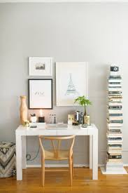West Elm Office Desk Home Office How To Style A West Elm Parsons Desk White Lacquer