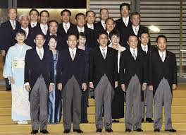 The Cabinet Members Shinzo Abe Begins New Term As Prime Minister Launches Cabinet