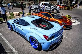 golden ferrari 458 gold rush rally liberty walk ferrari 458 w armytrix titanium