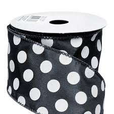 black and white polka dot ribbon white random glitter ribbons from carrier bag shop tone and