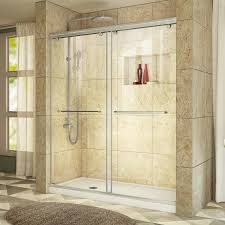 Bathroom Shower Kit by Shop Dreamline Charisma Brushed Nickel Acrylic Floor 2 Piece