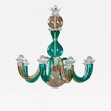 Colored Chandelier Gio Ponti Murano Colored Glass 8 Arm Chandelier