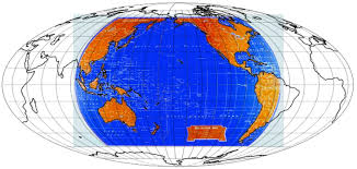 World Map With Longitude And Latitude Degrees by Coordinate System Appropriate Map Projection For The Pacific