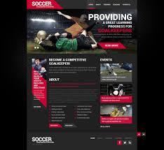 soccer responsive website template 50452