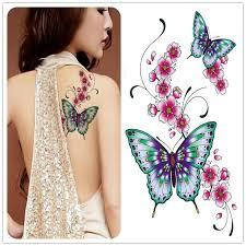 waterproof stickers delicate butterfly