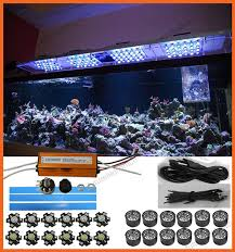 led aquarium lights for reef tanks 60w diy led aquarium light kit 20 3w for coral reef tank dimmable