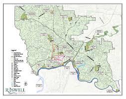 Map Of Atlanta Ga Area by Vickery Creek Via South Atlanta Road N2backpacking Com