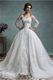 Vintage Lace Wedding Dress Unique Mermaid Vintage Lace Long Sleeve Wedding Dress With