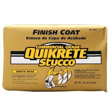 quikrete 80 lb stucco finish coat white 120180 the home depot