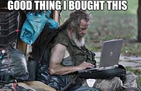 Man On Computer Meme - poor man with a computer imgflip