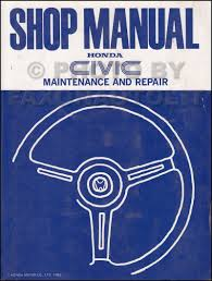 1984 honda civic 1 3 1 5 repair shop manual original
