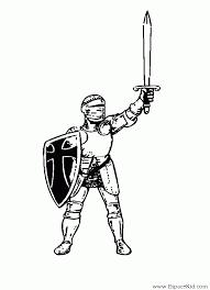 coloriage chevalier les beaux dessins de personnages à imprimer