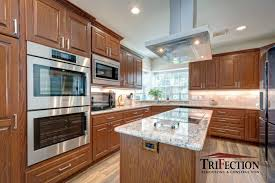 high quality solid wood kitchen cabinets oak custom cabinets trifection remodeling construction