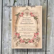 vintage bridal shower invitations printable bridal shower invitation custom printable shabby chic