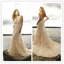 beige dresses for wedding aliexpress buy vintage beige lace wedding dress bridal gowns