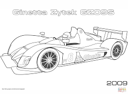 2009 ginetta zytek gz09s coloring page free printable coloring pages