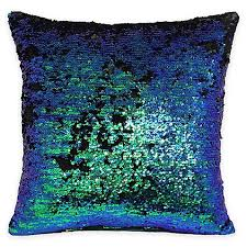 scarves and matching pillows bed of tennessee fabric rag mermaid sequin throw pillow bed bath beyond