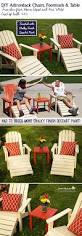 free double adirondack chair with table plans best home chair