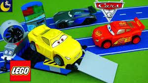 lego juniors disney cars 3 cruz ramirez race simulator lightning