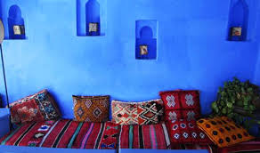 Moroccan Decor And Blue Color Bring Cool Moroccan Style Into - Moroccan interior design ideas