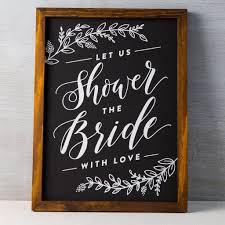 bridal shower signs bridal shower chalkboard clara whimsy