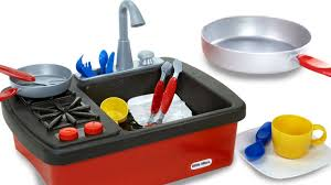 Play Kitchen Sink by Pretend Play For Kids Splish Splash Sink And Stove Playset