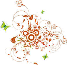 floral swirl with butterflies free vector graphics all free web