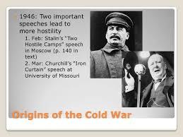 Iron Curtain Speech The Cold War Origins
